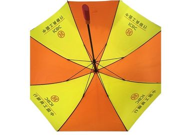 Handle Open Spring Promotional Golf Umbrellas Windproof Style 30 Inch