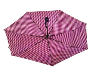 Fiberglass Pongee Foldable Umbrella Reverse Inverted Firm Grip Wind Resistant