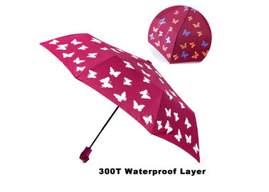 Automatic Lightweight Travel Umbrella Printing Silk Screen Colorful 3 Fold
