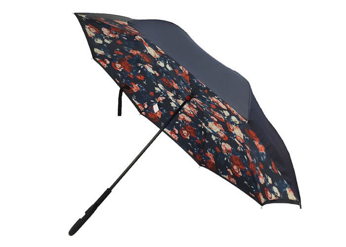 New inverted Umbrella flower design Windproof Reverse manual Open, 0.45g weight, C handle