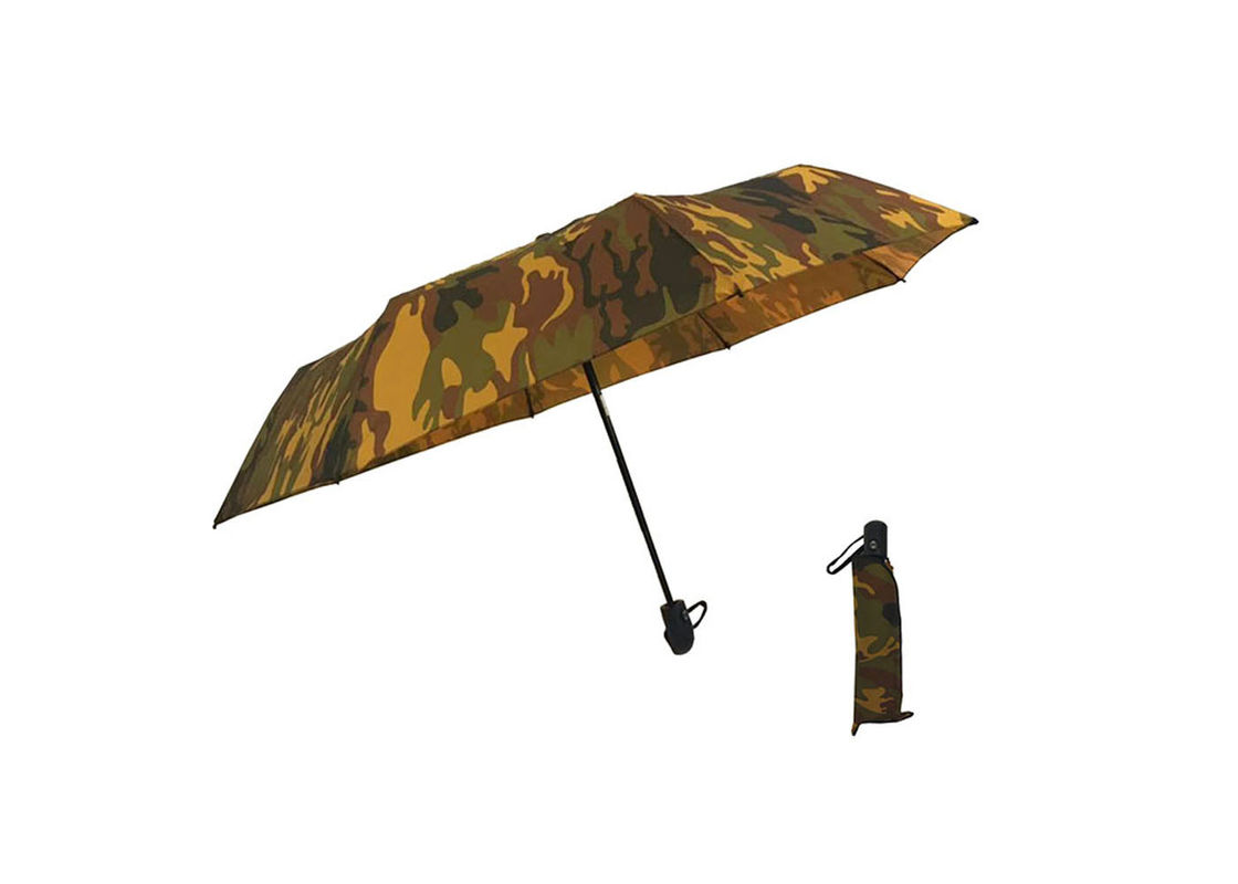 23 Inch Auto Open Close Foldable Umbrella Durability Disruptive Pattern