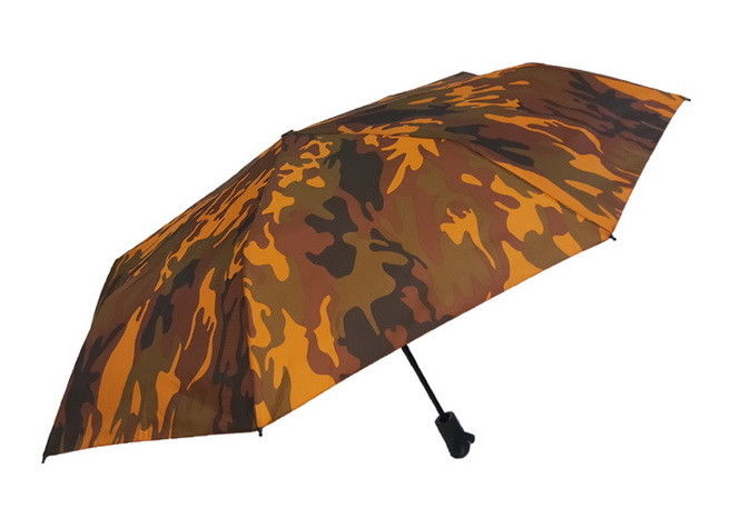 21 Inch Fashion Full Color Printing Strong Travel Umbrella , Compact Travel Umbrella